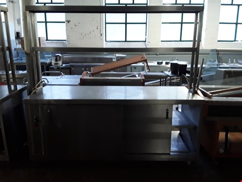 Lot 17 COMMERCIAL STAINLESS STEEL HEATED CUPBOARD SERVER