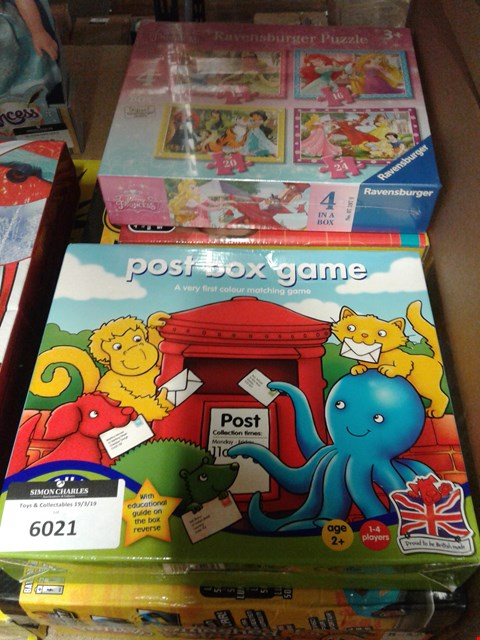 Lot 6021 LOT OF 5 ITEMS TO INCLUDE GIBBERISH - TAKE A PART CARS - SMASHED POTATOS - POST BOX GAME