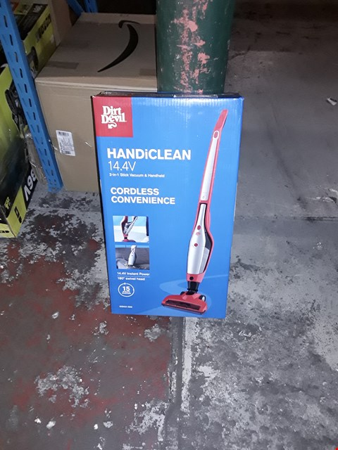 Lot 1096 DIRT DEVIL HANDICLEAN 2 IN 1 STICK VACUUM AND HANDHELD