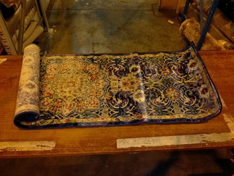 Lot 3014 DESIGNER NOURISON ANKARA GLOBAL COLLECTION BLUE RUG 60X180CM