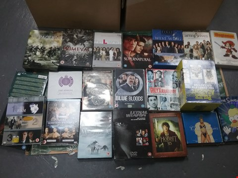 Lot 12031 A BOX OF APPROXIMATELY 29 ASSORTED DVD/BOXSETS TO INCLUDE A THE PACIFIC DVD AND A LETHAL WEAPON DVD