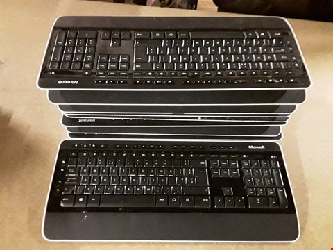 Lot 8124 LOT OF APPROXIMATELY 10 UNBOXED MICROSOFT 3050 WIRELESS KEYBOARDS