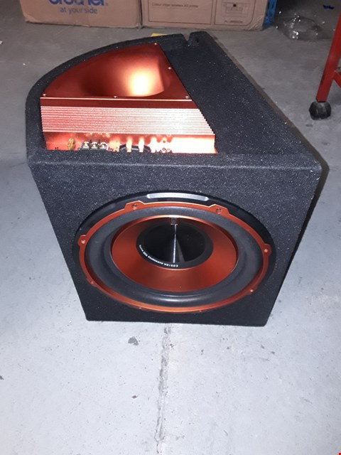 Lot 12677 VIBE AUDIO EDGE V2 12 INCH ACTIVE SUBWOOFER ENCLOSURE