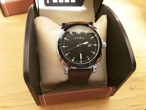 Lot 1 BOXED LA BANUS WRIST WATCH WITH BROWN STRAP AND BLACK FACE