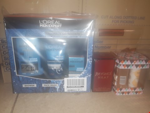 Lot 2275 LOT OF 3 HEALTH & BEAUTY ITEMS TO INCLUDE L'OREAL MEN EXPERT ULTIMATE HYDRATION KIT, SANCTUARY MUST HAVE MINIS AND BEYONCE HEAT 50ML EAU DE PARFUM RRP £72