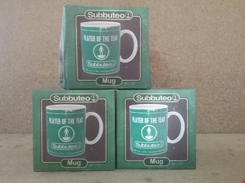Lot 330 3 BOXED SUBBUTEO MUGS