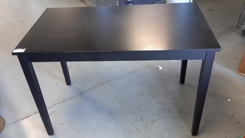 Lot 30 BLACK RECTANGULAR WOODEN SMALL DINING TABLE/OCCASIONAL TABLE