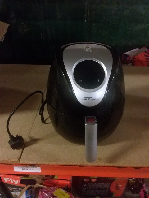 Lot 110 POWER AIR FRYER XL 3.2 LITRE - CHIP FRYER, PORTABLE OVEN, OIL FREE HOT AIR HEALTH FRYER WITH BAKING TRAY (1500W) BLACK