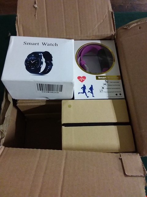 Lot 398 BOX OF 6 ASSORTED BRAND NEW ACTIVITY TRACKING SMART WATCHES (LOT 43 A-F)