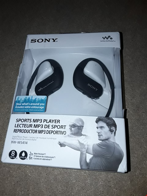 Lot 9181 SONY SPORTS MP3 PLAYER NW-WS414