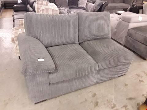 Lot 368 DESIGNER GREY JUMBO CORD SOFA SECTION