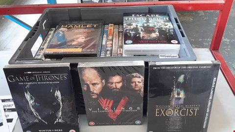 Lot 9070 BOX OF APPROXIMATELY 28 ASSORTED DVD'S INCLUDING GAME OF THRONES, VIKINGS, EXORCIST III ETC