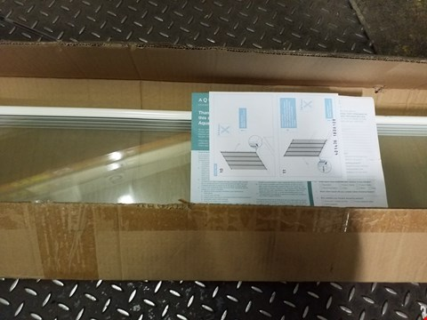 Lot 3322 BOXED GRADE 1 AQUALUX 4 FOLD SHOWER SCREEN 1400MM x 840MM RRP £129.99