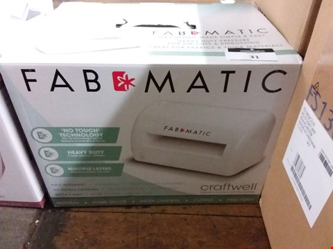 Lot 31 BOXED FAB MATIC DIE CUTTING AND EMBOSSER