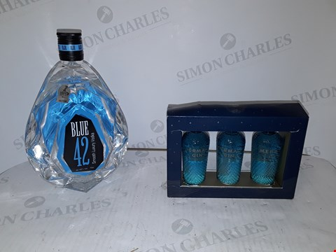 Lot 9048 LOT OF 2 ASSORTED ITEMS TO INCLUDE MERMAID GIN SET AND BLUE 42 VODKA  RRP £63.00