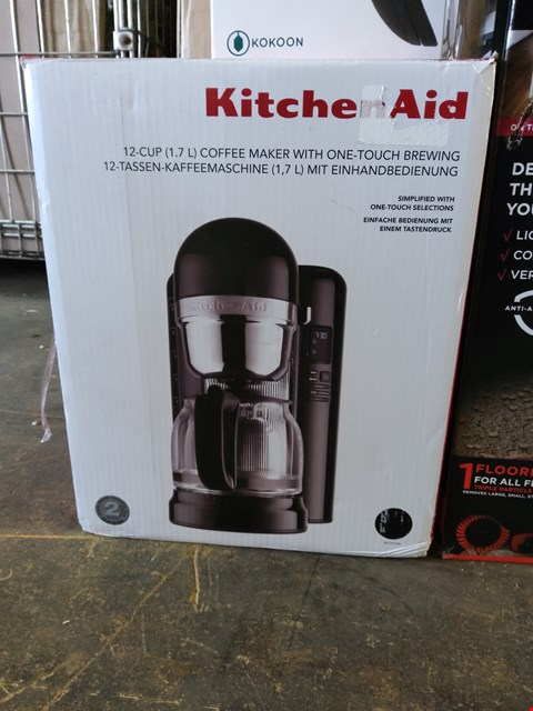 Lot 52 BOXED KITCHENAID 12 CUP COFFEE MAKER WITH ONE TOUCH BREWING
