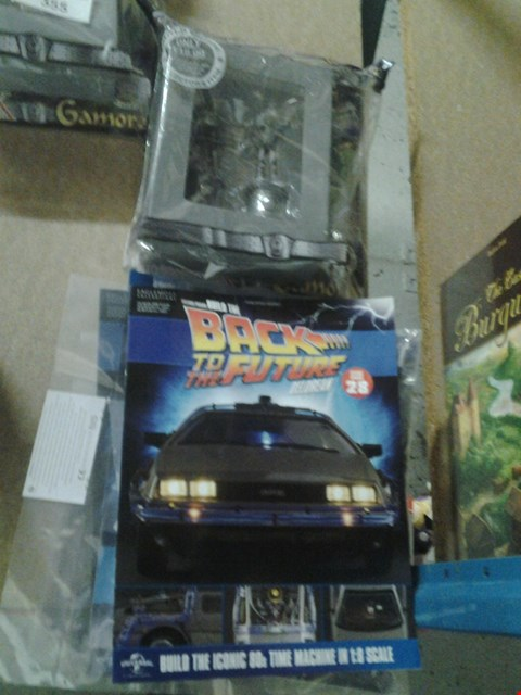 Lot 355 6 ASSORTED MAGAZINE COLLECTABLES TO INCLUDE; BACK TO THE FUTURE DELOREAN AND DRAX THE DESTROYER CHESS COLLECTION