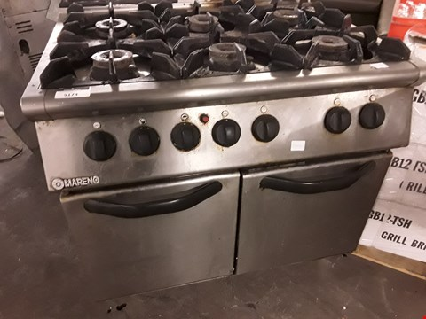 Lot 14 MARENO 6 BURNER RANGE COOKER WITH DOUBLE DOOR OVEN