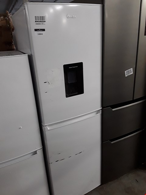 Lot 10002 SWAN FRIDGE FREEZER WITH WATER DISPENSER WHITE