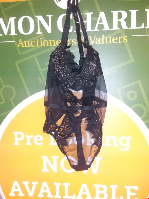 Lot 659 BRAND NEW ANN SUMMERS THE FEARLESS BODY - BLACK SIZE 8D/E