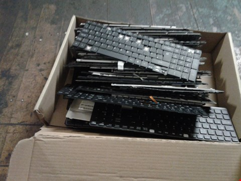 Lot 1477 A BOX OF APPROXIMATELY 20 ASSORTED KEYBOARD PARTS