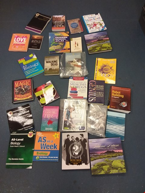 Lot 10591 BOX OF A LARGE QUANTITY OF ASSORTED BOOKS TO INCLUDE THE HANGING TREE BY BEN AARONOVITCH, NATIONAL GEOGRAPHIC SUBLIME NATURE, HIGH-RISE BY JG BALLARD ETC