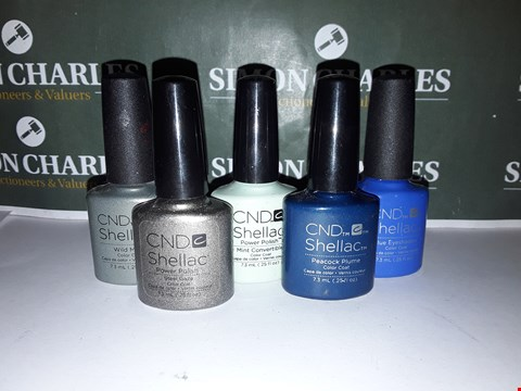 Lot 50 LOT OF 5 ASSORTED CND SHELLAC PRODUCTS