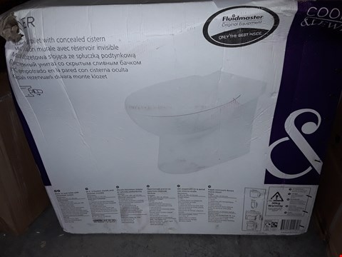 Lot 3219 COOKE & LEWIS TYLER BACK TO WALL TOILET WITH CONCEALED CISTERN