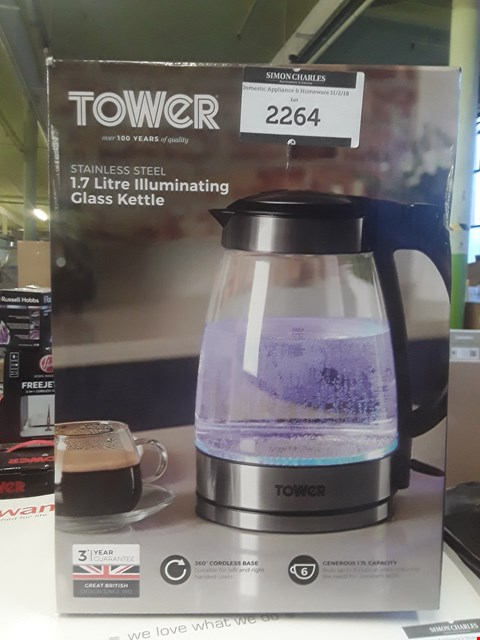 Lot 2264 TOWER 1.7 LITRE ILLUMINATING KETTLE