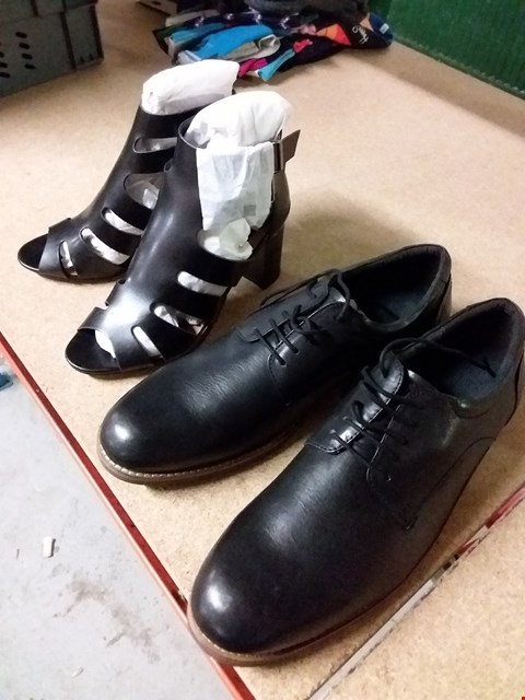 Lot 2085 LOT OF 2 PAIRS OF BRAND NEW ITEMS OF FOOTWEAR TO INCLUDE LOTUS LEATHER LACE UPS, AX PARIS BUCKLED LEATHER HEELS  RRP £45