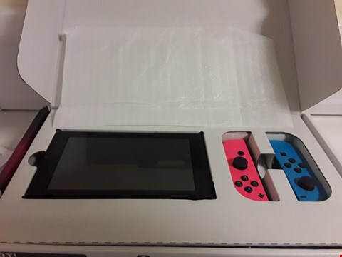 Lot 2383 NINTENDO SWITCH CONSOLE WITH NEON BLUE/RED JOY CONS RRP £385.00