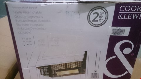 Lot 45 BOXED COOKE & LEWIS INTEGRATED EXTRACTOR HOOD Model CLIH60-C
