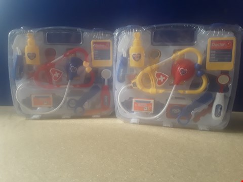 Lot 5019 TWO DOCTOR MEDICAL KIT PLAYSETS