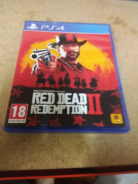 Lot 8196 RED DEAD REDEMPTION 2 PS4 GAME
