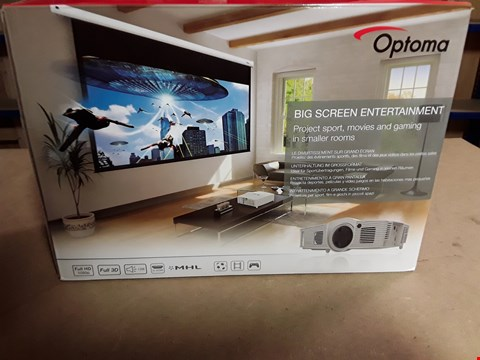 Lot 4492 OPTOMA BIG SCREEN PROJECTOR