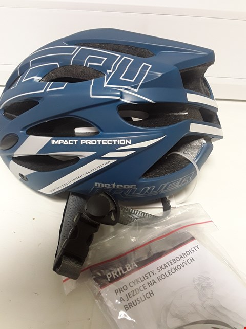 Lot 4104 UNBOXED METEOR GRUVER CYCLE SAFETY HELMET SIZE M 55-58mm