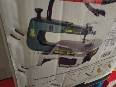 """Lot 10007 RECORD POWER SS16V 16"""" VARIABLE SPEED SCROLL SAW"""