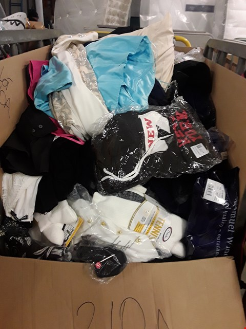 Lot 210A CAGE OF ASSORTED UNPROCESSED ADULT CLOTHING