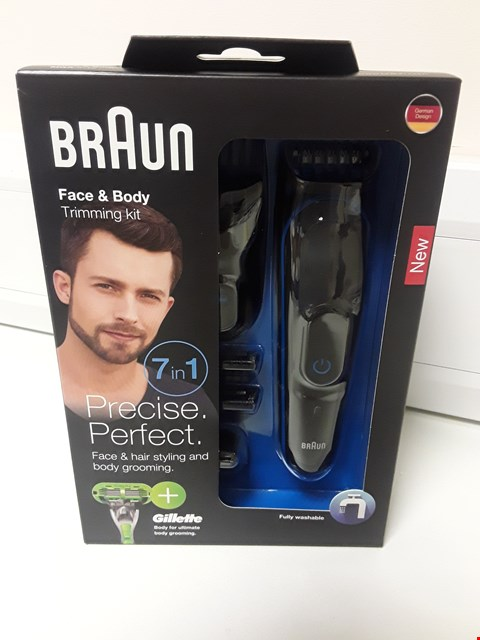 Lot 4568 BOXED BRAUN 7 IN 1 FACE & BODY TRIMMING KIT