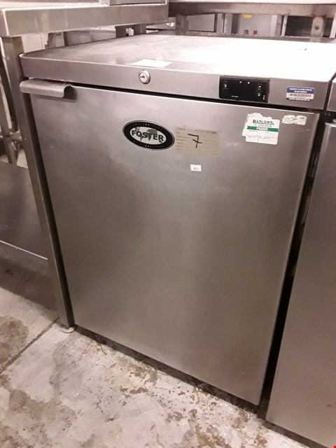 Lot 67 FOSTER UNDER COUNTER COMMERCIAL FRIDGE