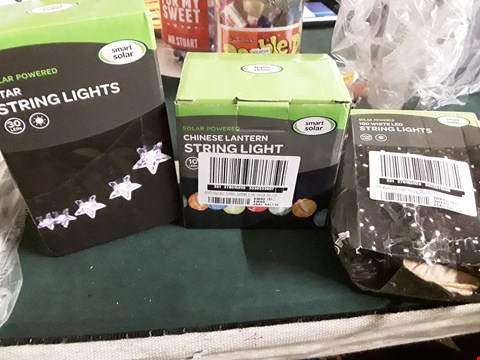 Lot 18059 LOT OF 3 ASSORTED SETS OF OUTDOOR LED STRING LIGHTS