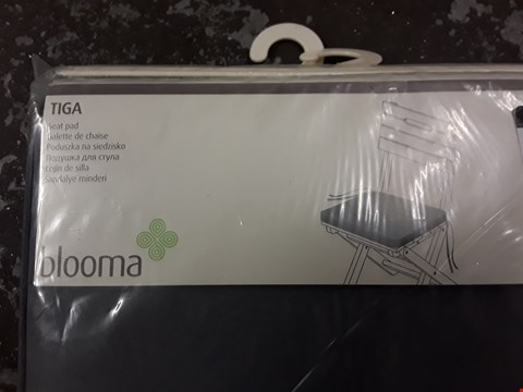 Lot 23 TWO BLOOMA TIGA GREY FABRIC SEAT PADS