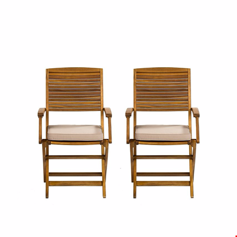 Lot 599 PANAMA DINING CHAIR  (2 PER BOX) HONEY RRP £180