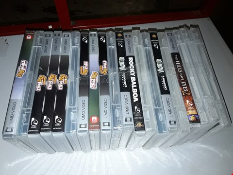 Lot 321 LOT OF 20 UMD VIDEOS FOR PSP TO INCLUDE THE HILLS HAVE EYES 2, ROCKY BALBOA AND 250 CLASSIC GOALS