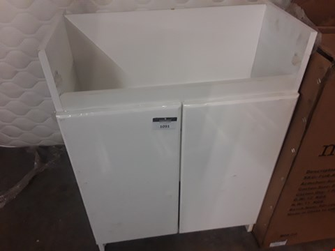 Lot 1091 DESIGNER WHITE VANITY UNIT WITH 2 DOORS