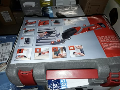 Lot 4922 EINHELL RT-MG 10.8 LI CORDLESS MULTI-FUNCTION TOOL WITH CARRY CASE AND BLADE SET - MULTI-COLOUR