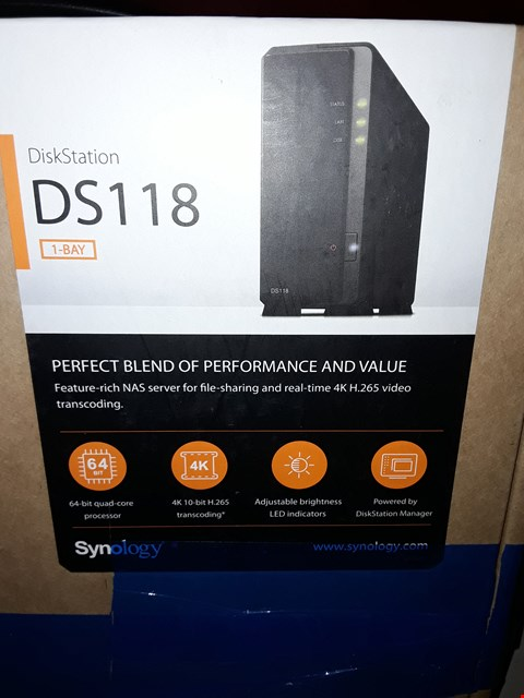 Lot 467 DISKSTATION DS118 1-BAY STORAGE SYSTEM