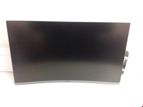 Lot 11457 SAMSUNG LC27JG52QQUXEN 27-INCH CURVED WQHD 144 HZ LED GAMING MONITOR - DARK SILVER