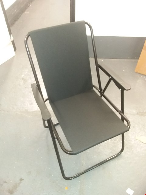 Lot 1452 BLACK FOLD DECKING CHAIR