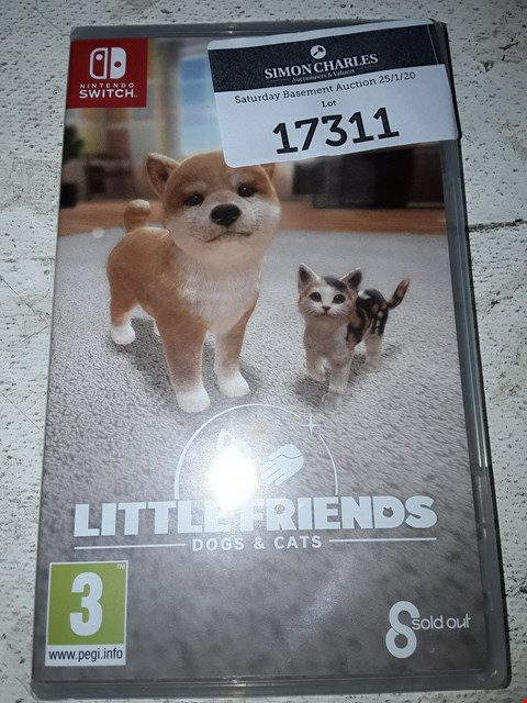 Lot 17311 LITTLE FRIENDS: DOGS&CATS FOR NINTENDO SWITCH